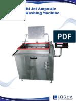 Multijet Ampoule Vial Washing Machine, LI- MW 340