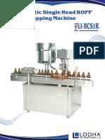 Automatic Bottle ROPP Capping Machine, LI_BCS 1R