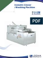 Automatic Linear Bottle Washing Machine, LI-LBW