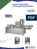 Automatic Vial Liquid Filling and Rubber Stopperig Machine, LI_LVF