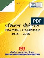 CWC Training Calendar 2018