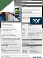 Nokia N73 Music Edition Datasheet