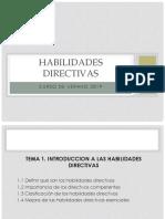 Introducción a Las Habilidades Directivas