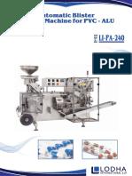 PVC - ALU Blister Packing Machine, LI_PA 240