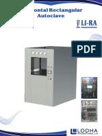 Horizontal Rectangular Steam Sterilizer, LI_RA