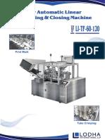Automatic Linear Tube Filling & Closing Machine, LI_TF