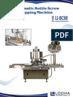 Automatic Bottle Screw Capping Machine, LI-BCSH