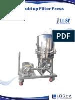 Zero Hold Up Filter Press, Sparkler Filter Press, LI-SP
