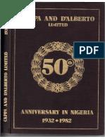 CAPPA and D'ALBERTO LIMITED (50yrs Anniversary in Nigeria) eBook