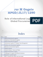 role of international logistics Ppt