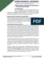 Tdr Consultoria de Obra - Pistas y Veredas El Bosque