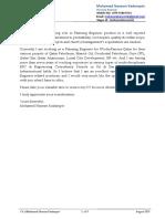 CV of Mohamed Naseem Kadampot Planning Engineer