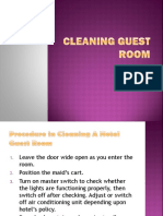 Cleaning Guest Room
