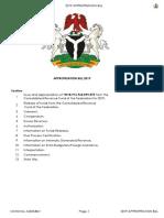 2019 Appropriation Bill