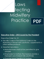 Laws Affecting Midwifery Practice