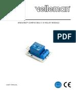 Arduino Compatible 5v Relay Module Vel Datasheet
