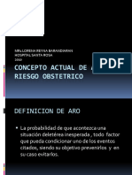 Concepto Actual de Alto Riesgo Obstetrico