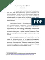 Discriminación positiva en Colombia