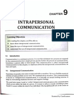 Unit 9 - Intrapersonal Communication