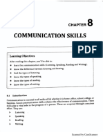 Unit 8 - Communication Skills