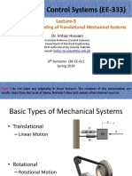 Lecture-3 Modeling of Translational Mechanical Systems