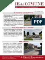 Notizie Dal Comune di Borgomanero del 28 Giugno 2019