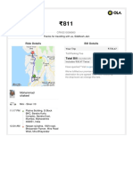 Ola Bill From Citi to Home