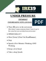 Under Pressure SLIDES IRE 2019