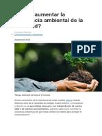 Cómo Aumentar La Conciencia Ambiental de La Sociedad