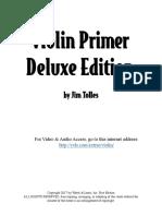 Jim Tolles - Violin Primer Book for Beginners