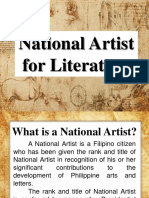 National Artist for Literature