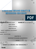 Brand equity marketing