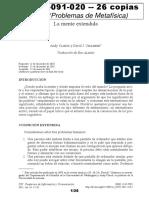 02091020 Clark y Chalmers - La mente extendida.pdf
