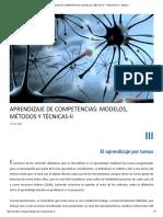 Aprendizaje de Competencias_ Modelos, Métodos y Técnicas-II - Ined21