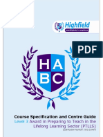 Course Specification Level 3 Award in PTLLS