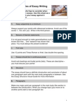 SS the Golden Rules of Essay Writing HO Rev1