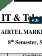 Marketing Plan of Airtel