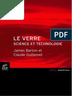 Le Verre - science et technologie