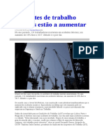 Acidentes de Trabalho a Aumentar Em Portugal