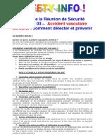 Semaine 03 – Accident Vasculaire Cérébral - Comment Détecter Et Prévenir