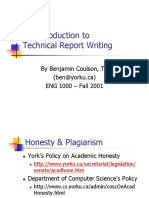 Introduction to Technical Report Writing