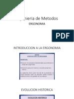 Ingenieria de Metodos Y ERGONOMIA
