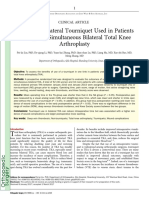 2017 Liu Effects of Unilateral Tourniquet Used in Patients Undergoing Simultaneous Bilateral Total Knee Arthroplasty