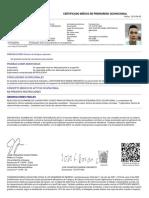 Certificado Medico Jose Francisco Baron Cervantes