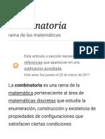 Combinatoria - Wikipedia, La Enciclopedia Libre