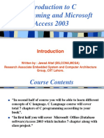 C language and microsoft access introduction