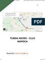 Alis Turda Micro Cluj Turda Micro – Cluj Naoca - Alis Grup Turd Duminica