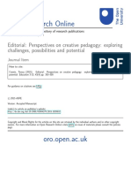 Editorial - Perspectives on creative pedagogy - challenges, possibilities and potential (Cremin, 2015).pdf