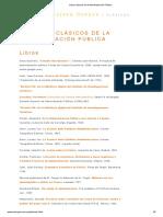 Libros Clásicos de La Administración Pública