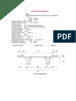 Diseño de Puente Carretero Alterntiva 01